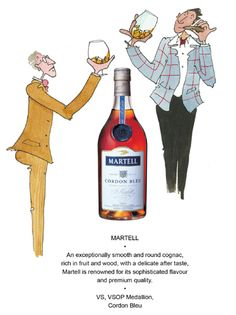 Martell Cognac Dip Pen, Magazine Editorial, Cheers, Ink, Illustration, Happy, Fountain Pen, Ser Feliz, India Ink