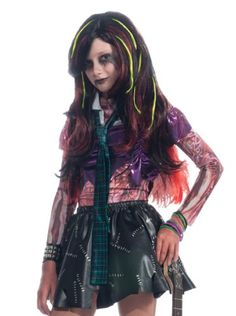 a2019d96dcb Rubie's Costume Zombie Inspired Long Hair Wig, Multi, One Size - Click  image twice
