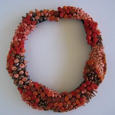 "Evelien Sipkes - ""queen's coral"" 2005 -   silk, velvet, copper, porcelain, swarovsky, beads"