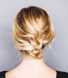 12 Incredibly Chic Updo Ideas for Short Hair via @ByrdieBeauty
