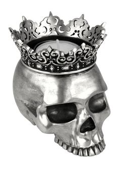 Crowned Skull Candle Holder by King Baby on @HauteLook