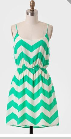 #RioBay #Chevron #Tankdress #Dress #White #Green #Mint Are you lucky enough to have this dress hanging in your closet? Drag it over to your virtual WiShi closet!