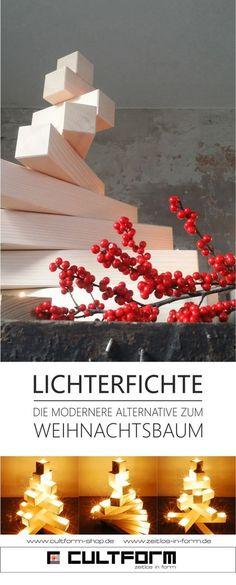 dieLichterfichte weiß #Weihnachtsbaum #modern #Design #Cultform #Teelichter #Weihnachten