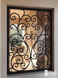 Iron Window Iron Window Railings Custom design for your home Security Luxury Style Wrought Iron . Iron Gate Design, House Gate Design, Wrought Iron Wall Decor, Wrought Iron Gates, Iron Windows, Iron Doors, Window Security Bars, Iron Window Grill, Door And Window Design