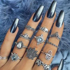 pretty nail art designs for 2017 - Nail Designs 2019 Pretty Nail Designs, Pretty Nail Art, Nail Art Designs, Chrome Nails Designs, Gorgeous Nails, Love Nails, My Nails, Fake Gel Nails, Uñas Diy