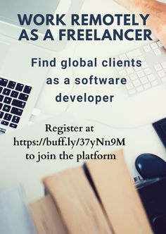 #RemoteWork #RemoteJob #Freelancer #Freelancing #Freelance #Telecommute #Homebased #WorkfromHome #JobOpp #GlobalWorkfoce Terms Of Service, Software Development, First Names, Told You So, How To Apply, Positivity, Optimism