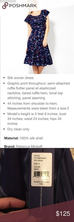Rebecca minkoff Nwt dress size 6 Rebecca minkoff dress Nwt size 6. No flaws. Never worn it's a size too small for me and it was a non-returnable item:( my loss is your gain. See pics for description. No lowball offers please:) Rebecca Minkoff Dresses Maxi