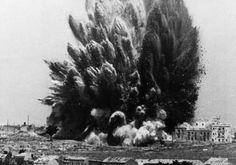 Spain. Spanish Civil War. Explosion in Madrid, March 1938