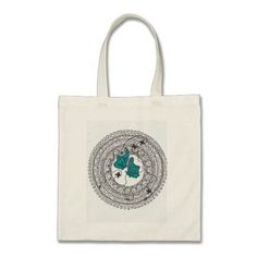 Bolsa  100% Algodón  Asa larga  34 x 40 cm  Color Natural. Talla unica. Ilustración estampada creada por nosotros. Mandala mariposas azules. de CreativeTienda en Etsy