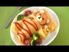 Video Tutorial: This recipe is very easy. I used just a few simple ingredients available around you. But the only thing you need is patience! hehe  Rilakkuma (which means relaxing bear in Japanese) is a very popular character in Japan. Omurice is omelette made with fried rice (ketchup flavored chicken rice) and usually topped with ketchup.