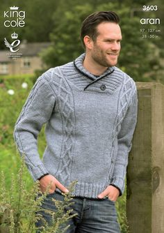 Sweater and Gilet Knitted in Big Value Aran - King Cole