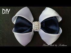 Пышный бантик из репсовой ленты 4см МК Канзаши Алена Хорошилова tutorial ribbon bow - YouTube