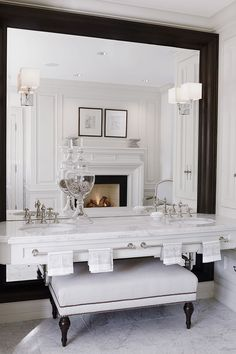 Classic master bathroom by Julie Charbonneau #MakeLivingAnArt