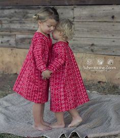 Seamingly Smitten: Easy christmas pajamas sewing pattern - girl's holiday nightgown