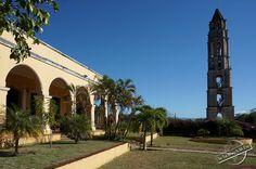 Hacienda of Manaca Iznaga with tall Watchtower in the Valley of the Sugar Mills