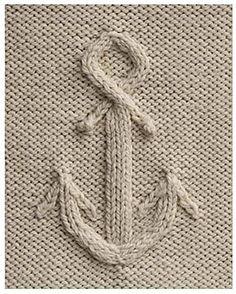 cabled anchor.. Free pattern at yarnspirations.com