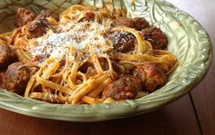Garlicky Meatball Pasta from Cooking Light via Taking On Magazines