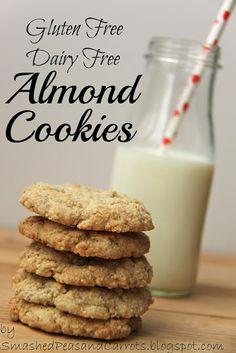 Gluten & Dairy Free Almond Cookies (Sub Sugar) | Smashed Peas & Carrots