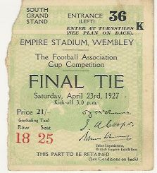1927 FA Cup Final ticket.