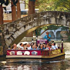 Go to San Antonio, TX.  Love this boat tour, could do it a 1,000 times!!
