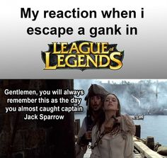 League of legends gank escape