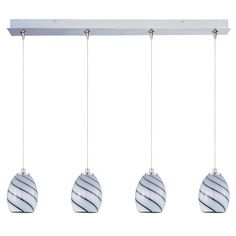 Maxim Lighting Swirl 4-light Xenon Satin Nickel Linear Pendant Light