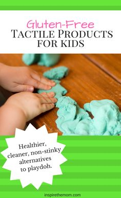 What better way to encourage tactile developement than with sensory play? Here are three gluten-free alternative products to playdoh.
