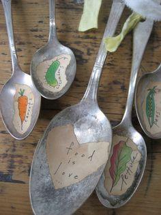 Food is Love CUSTOM Vintage Silverware Spoon Garland