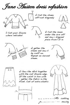 This would be a quick Jane Austen dress tutorial if you're in a rush.