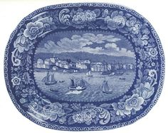 Sandusky platter    Reproduced in American historical views on Staffordshire china by Ellouise Baker Larsen.    Used courtesy of Cleveland Public Library.