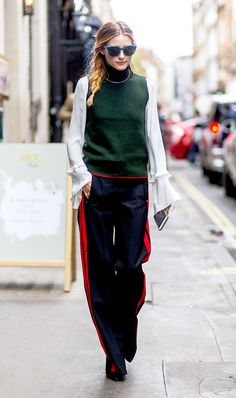Who better to show us how to pull off the track pant trend than Olivia Palermo?