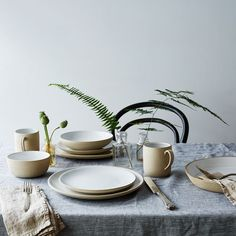 Beautiful pitchers, plates and napkins to bring out when friends are over.