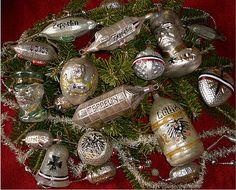 Antique German Christmas ornaments : kerstversiering -