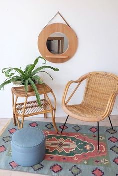 Wicker furniture adds a relaxed, bohemian vibe to your home.