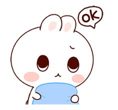 LINE Creators' Stickers - Happy bunny Sunny 2 Example with GIF Animation Cute Cartoon Pictures, Cute Couple Cartoon, Cute Love Cartoons, Cute Bear Drawings, Cute Cartoon Drawings, Kawaii Drawings, Cute Love Pictures, Cute Love Gif, Kawaii Doodles
