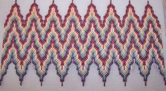 bargello - Hungarian stitch