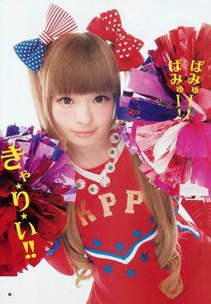 Kyary Pamyu Pamyu~~♥♪♫ Japanese music & fashion icon--!☆★☆ kawaii fashion. . .cheerleader costume