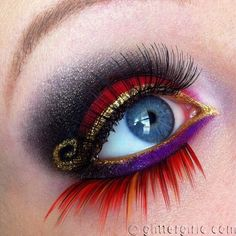 Super fun Jafar-inspired look by @Cecilie Olsen using #Sugarpill Goldilux, Poison Plum, Tako, and Love+ eyeshadows!