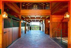 Birch Tree Farm stable interior