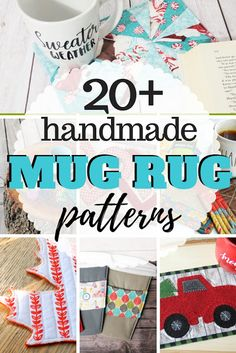 Great list of over 20 free mug rug patterns and a few coaster sewing patterns for those warm drinks. Small Sewing Projects, Sewing Projects For Beginners, Sewing Tutorials, Sewing Tips, Sewing Ideas, Sewing Hacks, Fabric Crafts, Sewing Crafts, Free Printable Sewing Patterns