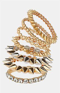 Spike stretch bracelets