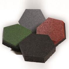 Standard colors, sold by the square foot. Sofscape rubber pavers.