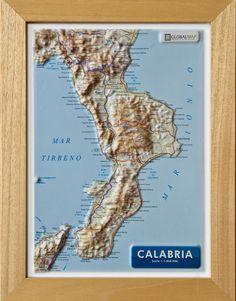 Serie:  Carte in rilievo formato A4 Scala:  1:1.000.000 Formato:  21 x 29,7 cm