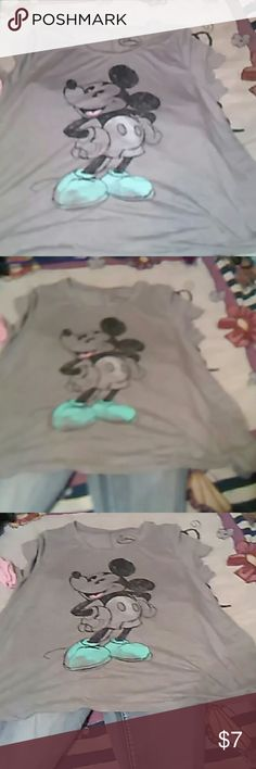 Mickey tshirt. Absolutely love Mickey mouse I never wore this. It looks cute with jeans and the black legging I am throwing those in for free. Size large black. But one price for two. Disney Tops Tees - Short Sleeve