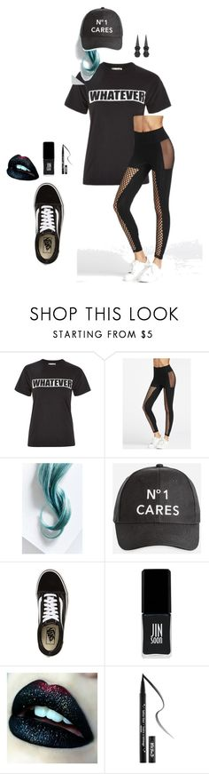 """""""B**ch Mode"""" by krcsummerson on Polyvore featuring Love, Lime Crime, Ashley Stewart, Vans, JINsoon, Kat Von D and Hot Topic"""