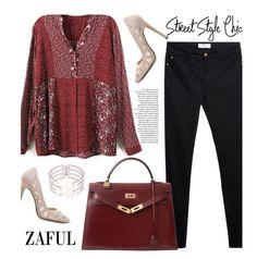 """Zaful 4/2"" by merima-kopic ❤ liked on Polyvore featuring mode, Privé, MANGO, Hermès et zaful"