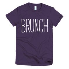 Brunch t Shirt ladies #beanandjean #mimosa Printed on American Apparel t-shirt Smoothest & softest shirt you'll ever wear. Made of fine jersey, it has a durable/vintage feel. These classic-cut shirts are known for their premium quality, as well as ability to stand up to a washing machine. The shirts are 100% fine jersey cotton (except for the heather grey 90% cotton/10% polyester). This women's t-shirt is made form-fitting to flatter curves. Made ethically in the US