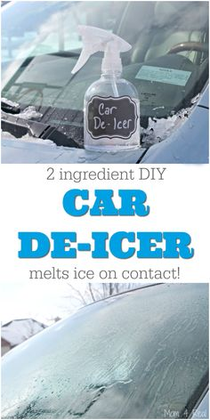 2 Ingredient Homemade Car De-Icer Spray removes ice from your car windshiel. - Simple life hacks -This 2 Ingredient Homemade Car De-Icer Spray removes ice from your car windshiel. House Cleaning Tips, Diy Cleaning Products, Cleaning Solutions, Car Cleaning Hacks, Diy Tumblr, Tips And Tricks, All You Need Is, Just In Case, Car Hacks
