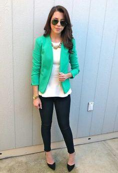 Groene blazer