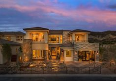 Plan 2 Exterior At Lago Vista Lake Las Vegas